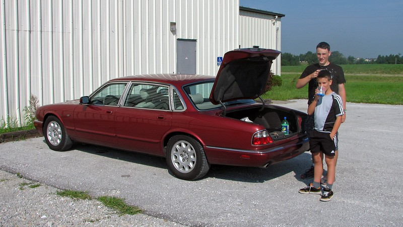 August 4, 2008:  My wife's sister and family from Austria were in town for a visit.  We drove to nearby Fulton, Missouri and toured the Auto World Museum.