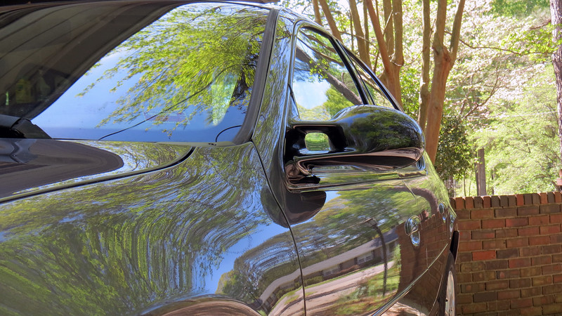 A good coat of wax also made the faded black outside mirrors shine.
