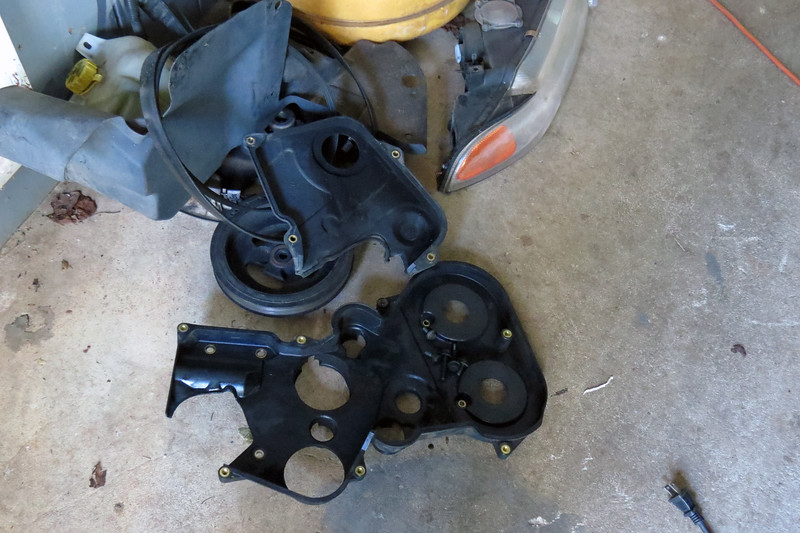 I then removed the lower fasteners and removed the inner timing belt cover.