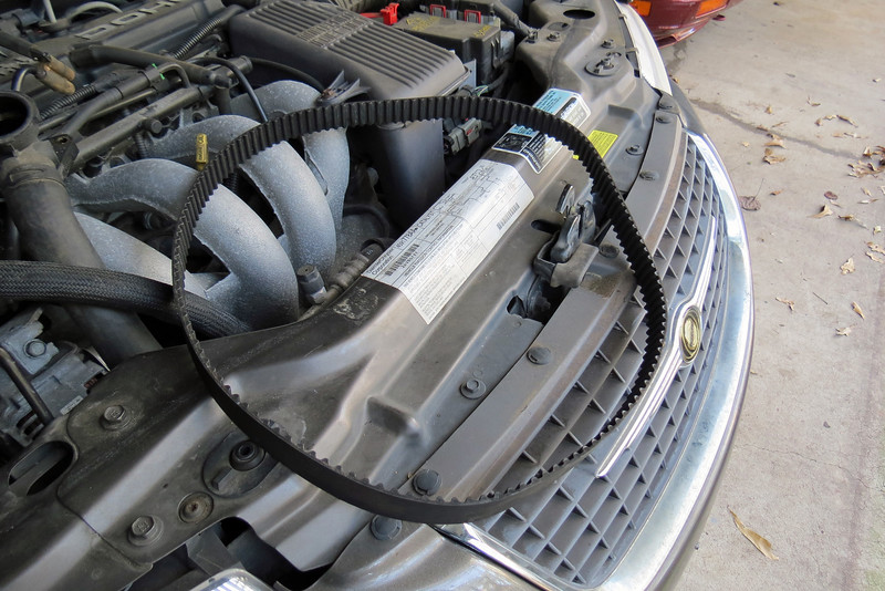 """With no tension on the belt and everything out of the way, I removed the timing belt.  Mine was actually still in very good condition and probably could have lasted a few more years/miles.  But, there is a reason why it's called """"Preventative Maintenance."""""""