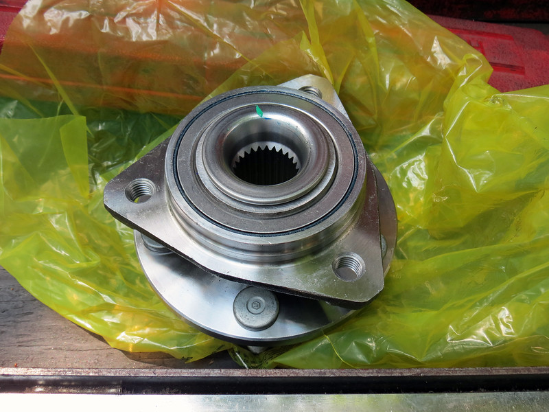 The modern wheel bearing on most new vehicles is a hub and bearing assembly, where the wheel hub and bearing are one piece.  It's actually pretty convenient.