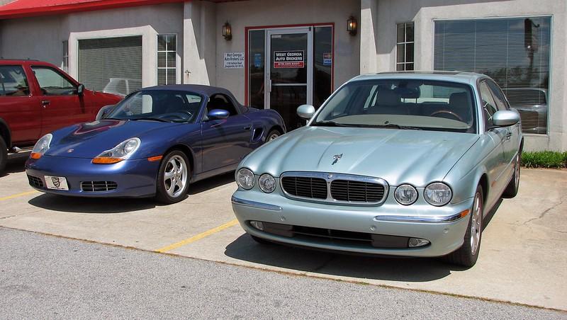 April 7, 2012:  I traded the 2004 Jaguar XJ8 for a 2000 Porsche Boxster.