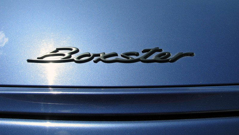 The Boxster decklid emblem.