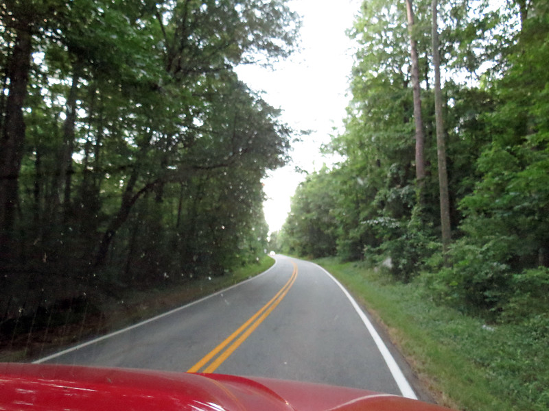 Elks Club Road outside of Covington, Georgia.