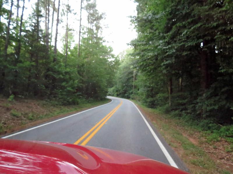 This is Elks Club Road outside of Covington, Georgia.