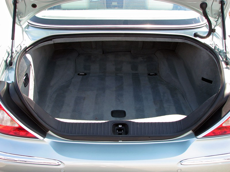 For 2004, the fuel tank was relocated to underneath the car.  This, coupled with the higher body lines, resulted in a 25 percent increase in luggage space.  But, more importantly, the luggage compartment had become much more usable thanks to its longer length.