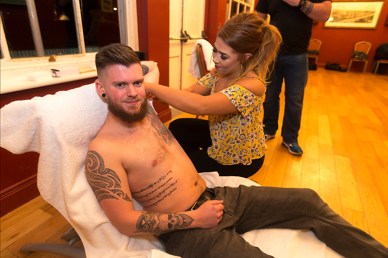 EEJob Maurice Gubbins SOCIAL 23/03/2018  Charity Fundraising Event for The Mercy Hospital Foundation by The River Lee Hotel and its staff.  Pictured Com Lehan  as he is waxed by Nicola Murphy at the Cork Cricket Club Cork City.  Picture: Andy Jay
