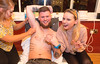 EEJob Maurice Gubbins SOCIAL 23/03/2018  Charity Fundraising Event for The Mercy Hospital Foundation by The River Lee Hotel and its staff.  Pictured in for a second waxing Colm Lehan with girlfriend Karolina Lesnick providing support  as he is waxed by Nicola Murphy at the Cork Cricket Club Cork City.  Picture: Andy Jay