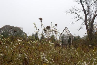 """On Artist Walk - """"Fragment House"""" by Danielle Krcmar (photo by Meg Giddings) - October 2012"""