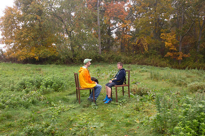 """On Artist Walk - """"A Study in Proxemics"""" by Mimi Frank (photo by Meg Giddings) - October 2012"""
