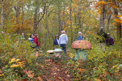 "On Artist Walk - ""Visitors"" by Steve Whittlesey (photo by Meg Giddings) - October 2012"