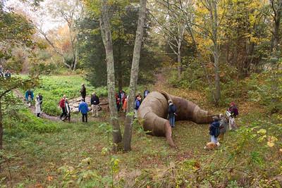 "On Artist Walk - ""Traverse"" by Elizabeth Dooher (photo by Meg Giddings) - October 2012"
