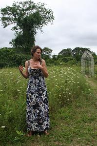 "Artist Danielle Krcmar at July 29 Poetry Reading at ""Fragments"""
