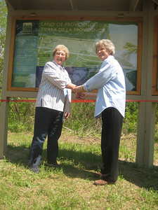 May 1, 2010.  Farm & River Day.  Ribbon cutting for the new entrance to the Land of Providence.