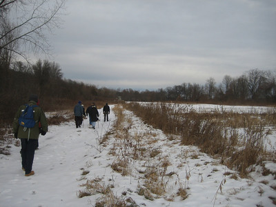 A winter walk led by Trustees staff. December 19, 2009.