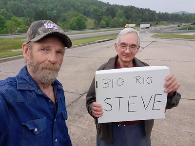 JBM and his wife chased us down at the rest area in Camp Creek, West Virginia on May 25, 2012