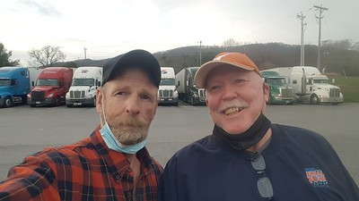 November 22 is when Garry T from Christiansburg, Virginia met us in Max Meadows while getting fuel at the love's truckstop.