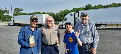 TJ ElevatorFan, Foggy Point Light,  and Charles met us at the Love's truckstop in Statesville, North Carolina on May 22, 2021
