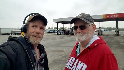 Mendel P asked to meet BigRigSteve so we made it happen at the Flying j truckstop in Spiceland, Indiana on April 30, 2019