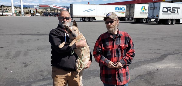 Jim and the puppy named Finn met with us in Butte, Montana on April 17, 2021