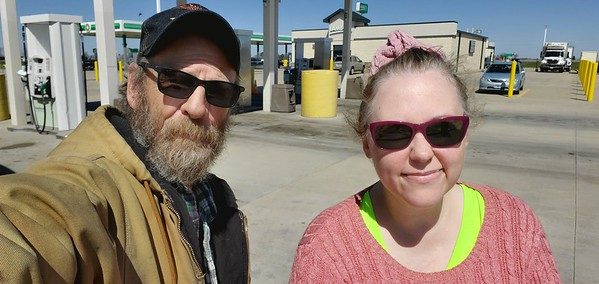 Joycie R met up with us at the  truckstop in Mattoon, Illinois on March 29, 2021. She was the very first to be handed her BRT medallion in person!