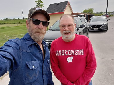 Val meets BRS at the Kwik Trip in Lake Mills, Wisconsin on May 31, 2021