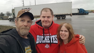 Denny and Krissy met BigRigSteve in the Love's truckstop in Sidney, Ohio on March 20, 2020