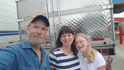 August 26, 2020 is when BigRigSteve, Stephanie and Jessica finally got the chance to meet at the TA truckstop fuel island in Antioch, Tenessee.