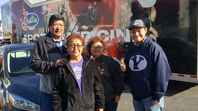 RezzieBoy and his family met with BigRigSteve during trailer tire repairs in Las Vegas, Nevada on December 15, 2019