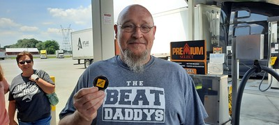 Chris met BigRigSteve in Paducah, Kentucky on June 20, 2021 and got the last medallion we had on hand at the moment!