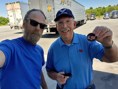 Leroy from Hickory, North Carolina got to meet us again at the truckstop  on June 17, 2021