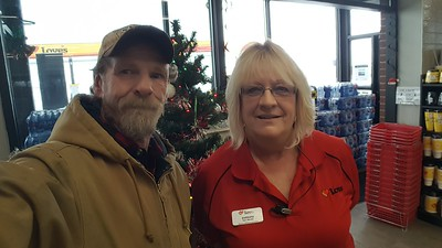 Barbara works at the Love's truckstop in Brush, Colorado where we sat out a winter storm on November 26, 2019
