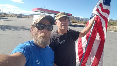 Flag Waving Lizzoid met with BigRigSteve in De Beque, Colorado October 21, 2018