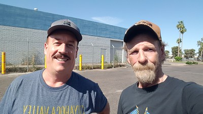 Erick M and BigRigSteve met up at a customer in Phoenix, Arizona on May 3, 2020