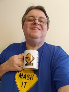 Greg Treadway from Beckley, West Virginia holding his Official Mash It Mug