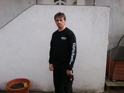 April 2012 Jens, a German trucker, sporting his new first edition Road Crew shirt!