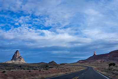 Driving south through the monuments