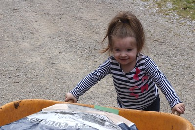 April 4, 2016 - Helping Pawpaw put feed in the barn.