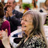 Karen Fusco laughs at a joke during the Roast of Mayor Stephen DiNatale at the Fitchburg Senior Center on Saturday evening. Proceeds were to benefit the Rotoary Club of Fitchburg. SENTINEL & ENTERPRISE / Ashley Green