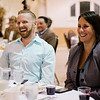 AJ Tourigney and Senator Jennifer Flanagan share a laugh during the Roast of Mayor Stephen DiNatale at the Fitchburg Senior Center on Saturday evening. Proceeds were to benefit the Rotoary Club of Fitchburg. SENTINEL & ENTERPRISE / Ashley Green