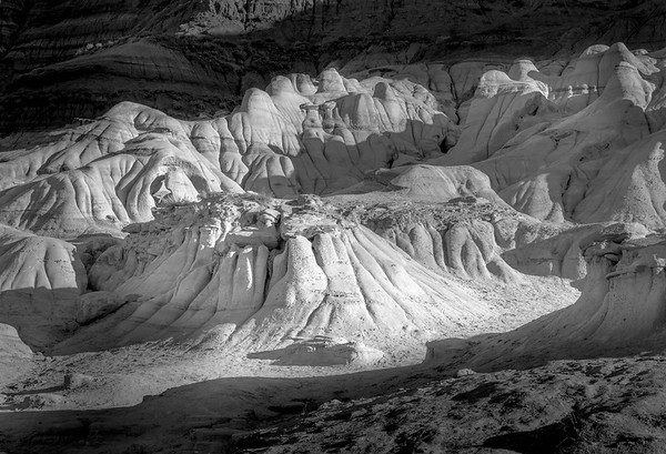 Erosional Forms and Shadows #2 - Drumheller, Alberta - Drumheller, Alberta