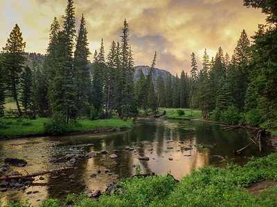 View from our campsite on Slough Creek.  Possibly the best drive to campsite in Yellowstone.
