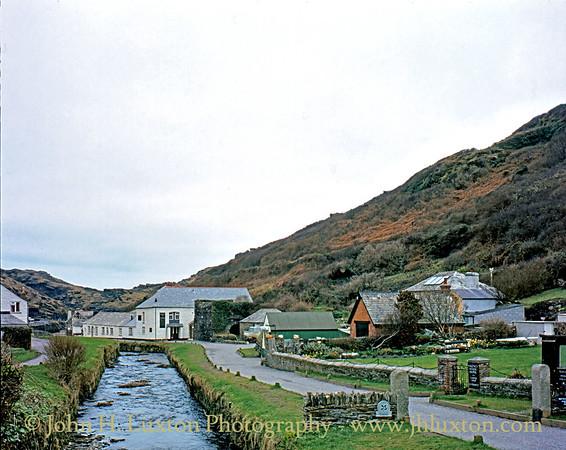 Boscastle, Cornwall. March 1983