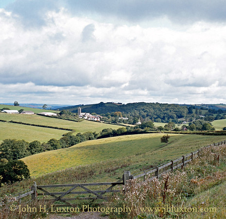 Tedburn St. Mary viewed from the old A30, August 1982