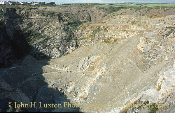 Delabole Slate Quarry, Cornwall. - August 1982