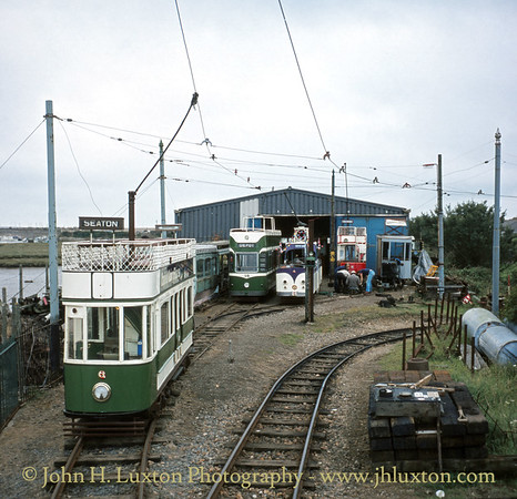 Seaton & District Tramway Depot - September 1982