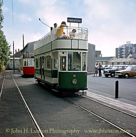 Seaton & District Tramway Company car #8 at Seaton terminal - September 1982