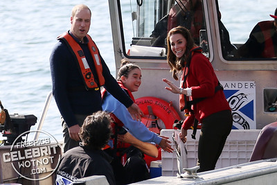 Kate Middleton In A Really Wild Sweater, R.Soles Cowboy Boots And Zara Jeans With Prince William In Blue
