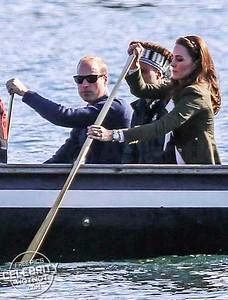 Paddle Power! Kate Middleton And Prince William Canoeing With Native Warriors In Canada