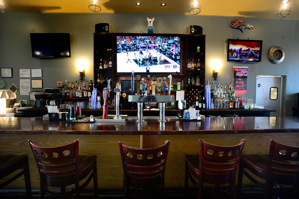 . BOULDER, CO - JANUARY 09, 2019 The bar area at the Rusty Melon in Erie. For more photos go to dailycamera.com. (Photo by Paul Aiken/Staff Photographer)